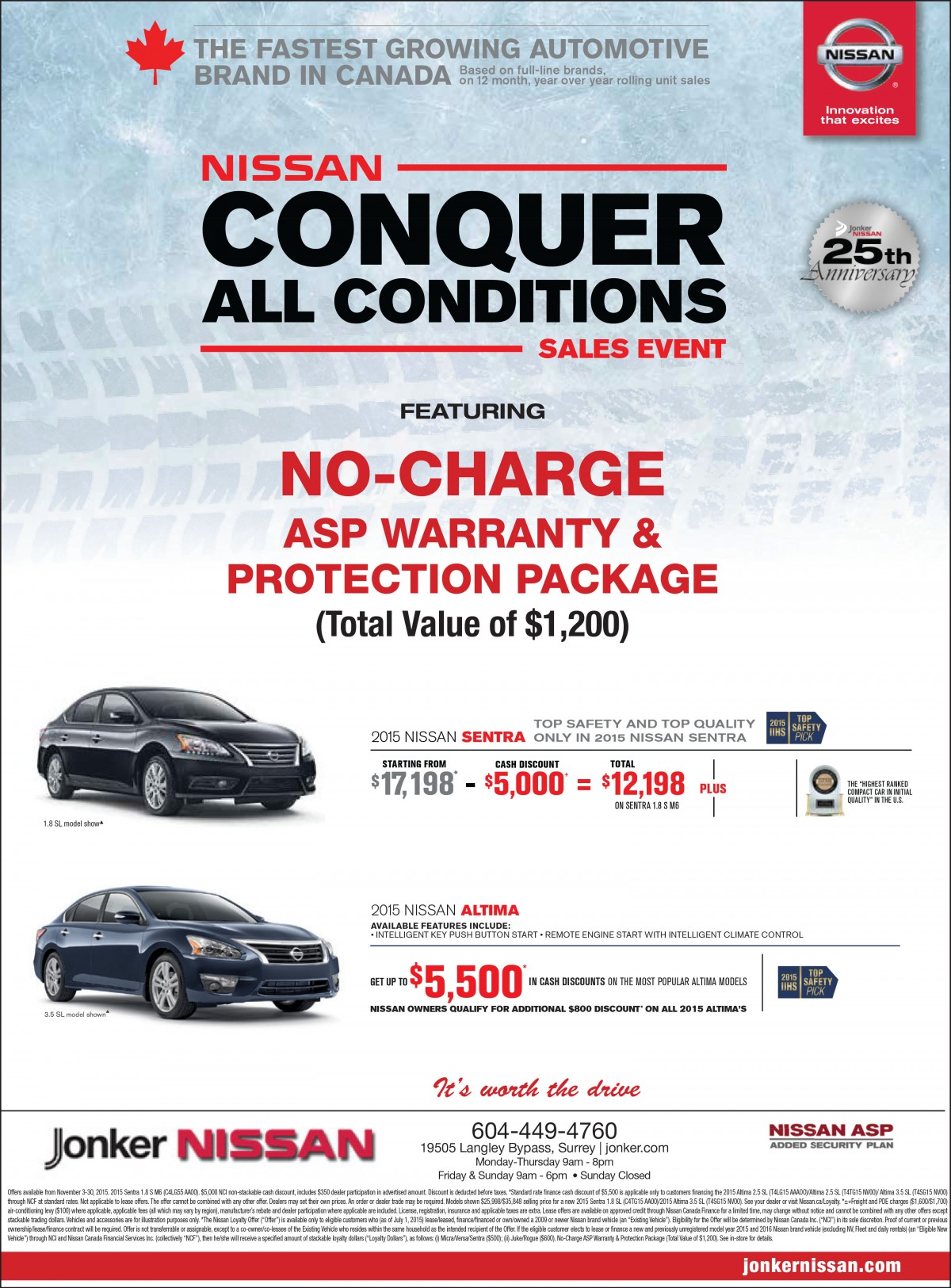 NO-CHARGE ASP Warranty & Protection Package